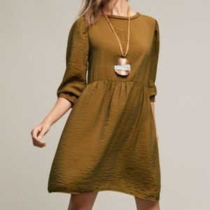 LACAUSA Anthropologie Parkington Dress Medium
